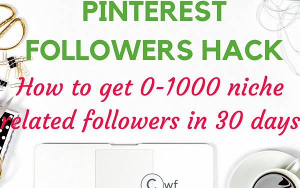 Pinterest followers hack: From 0 – 1000+ niche related followers