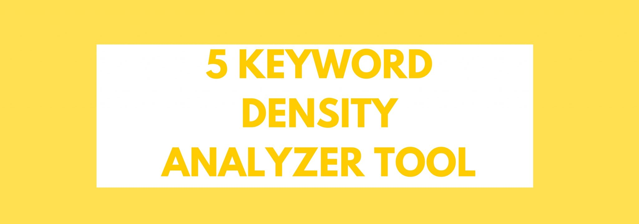 keyword analyzer