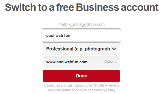 Create Pinterest Business Account