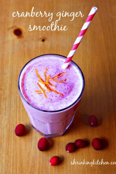 CRANBERRY GINGER weight loss SMOOTHIEs