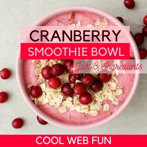 Cranberry Smoothie Bowl with Oatmeal