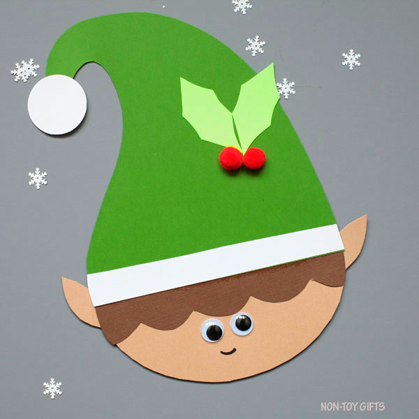 PAPER ELF CRAFT FOR CHRISTMAS