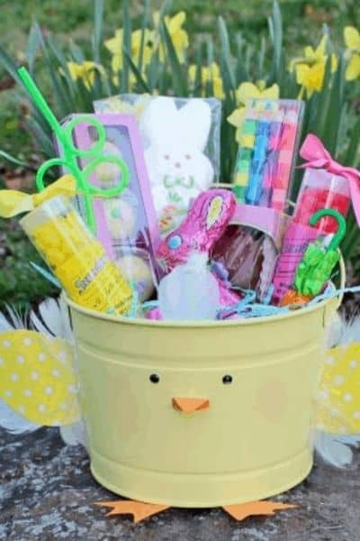 FEATHERED CHICK EASTER BASKET