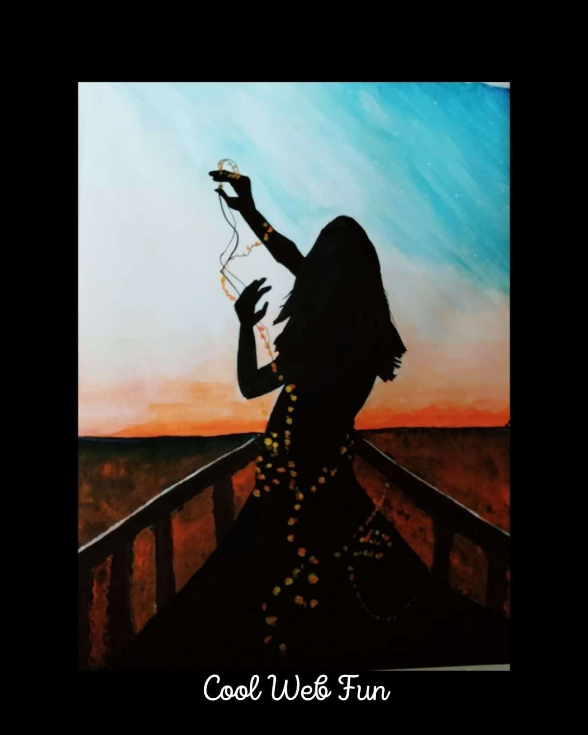 light and shadow girl watercolor painting (1)