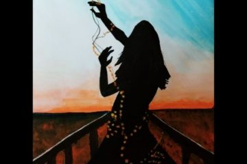 light and shadow girl watercolor painting (2)