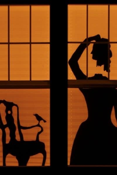 HAUNTED HOUSE WITH SILHOUETTES